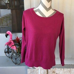 Gap Magenta Long Sleeve Sweater